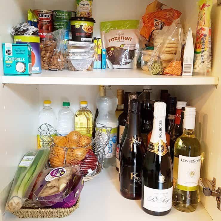 De No waste challenge begint met opgeruimde keukenkastjes