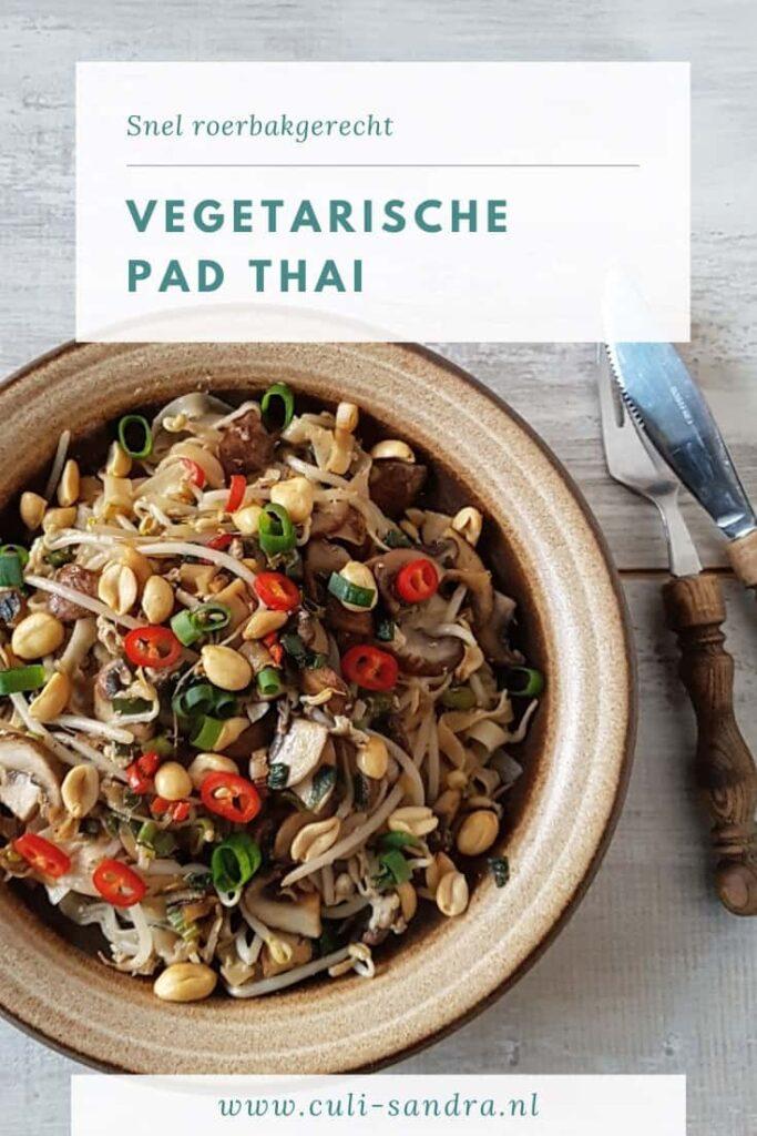 Recept Pad Thai vegetarisch
