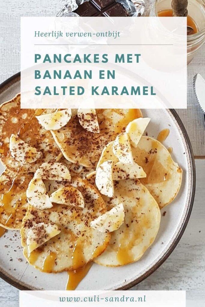 Recept pancakes banaan salted caramel