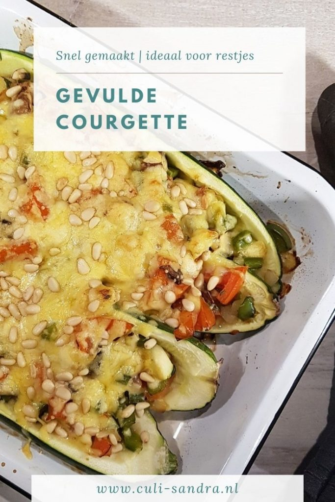 Recept gevulde courgette