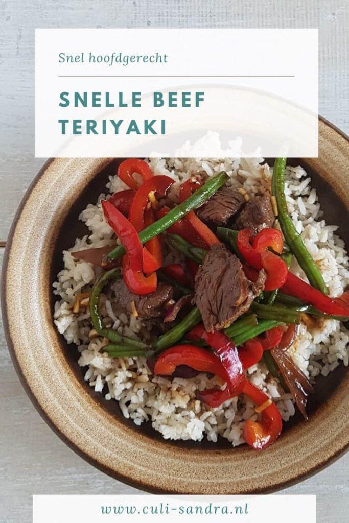 Recept beef teriyaki
