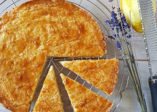 Boterkoek met citroen en lavendel
