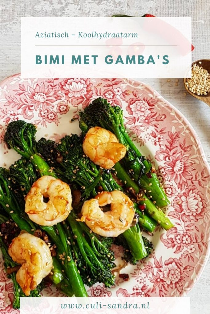 Recept bimi met gamba's