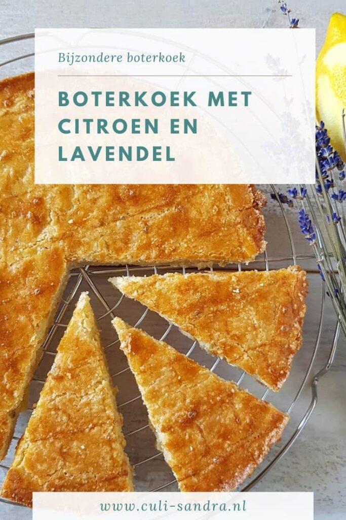 Recept boterkoek met lavendel