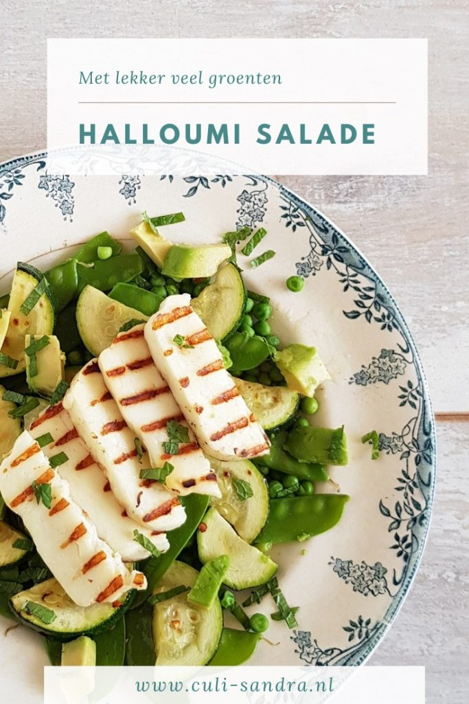 Recept salade halloumi