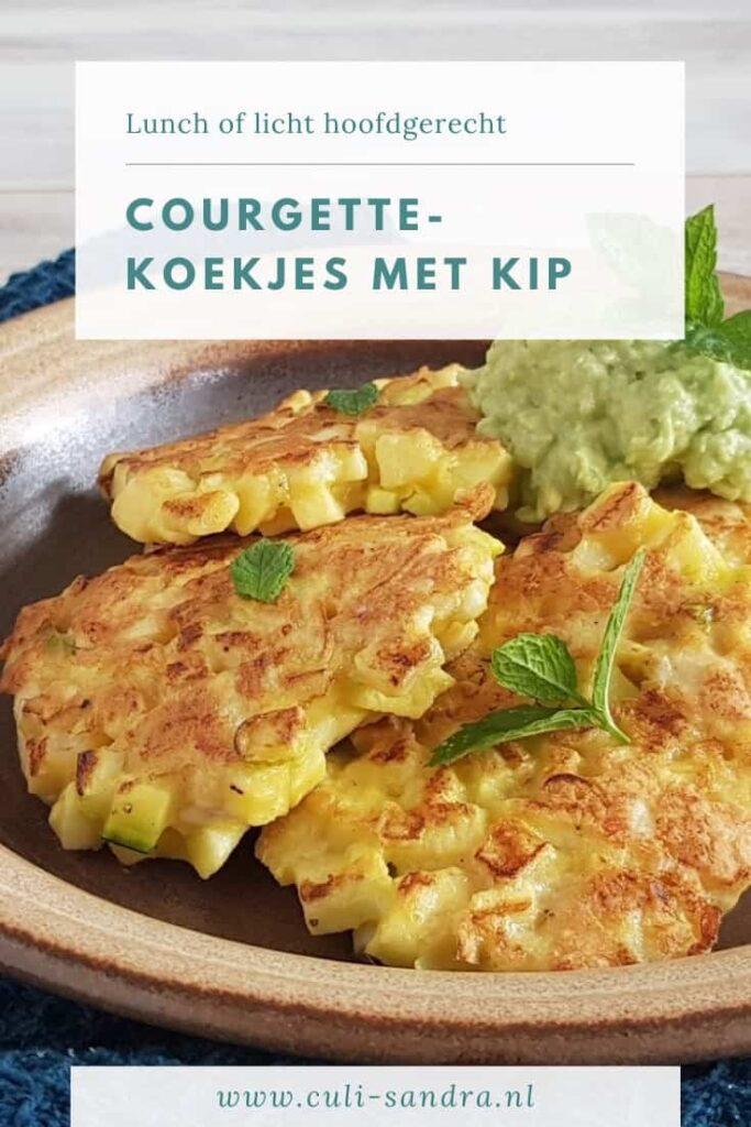 Recept courgettekoekjes met kip