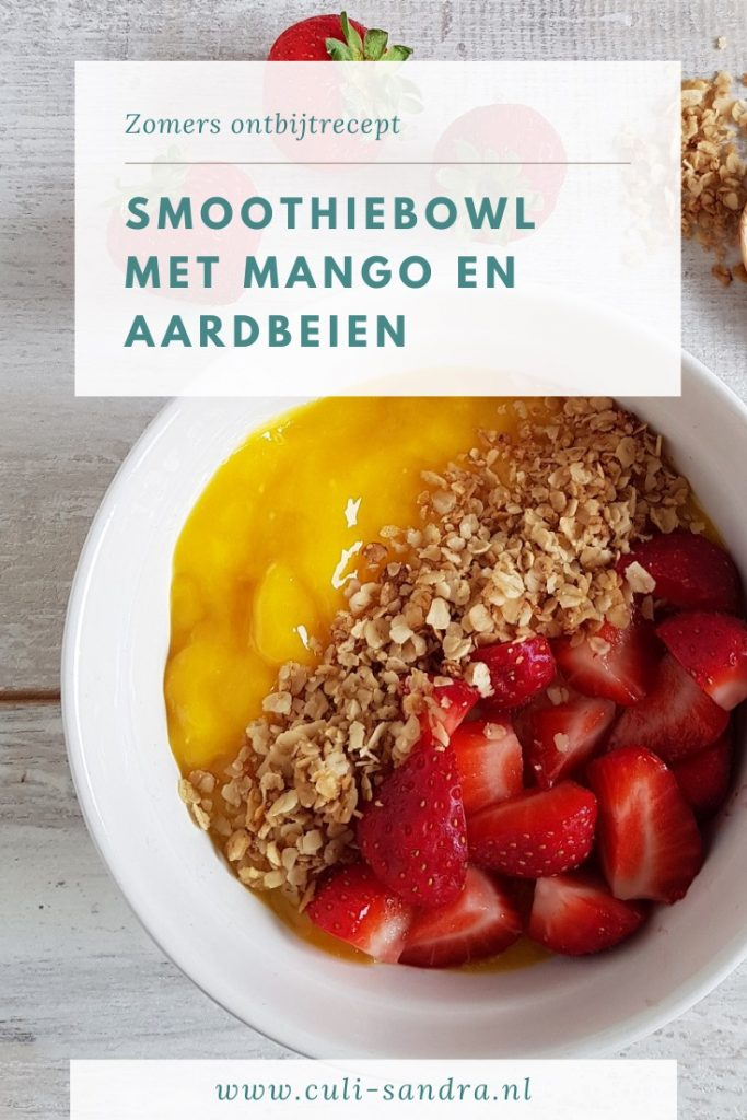 Recept smoothiebowl mango en aardbei