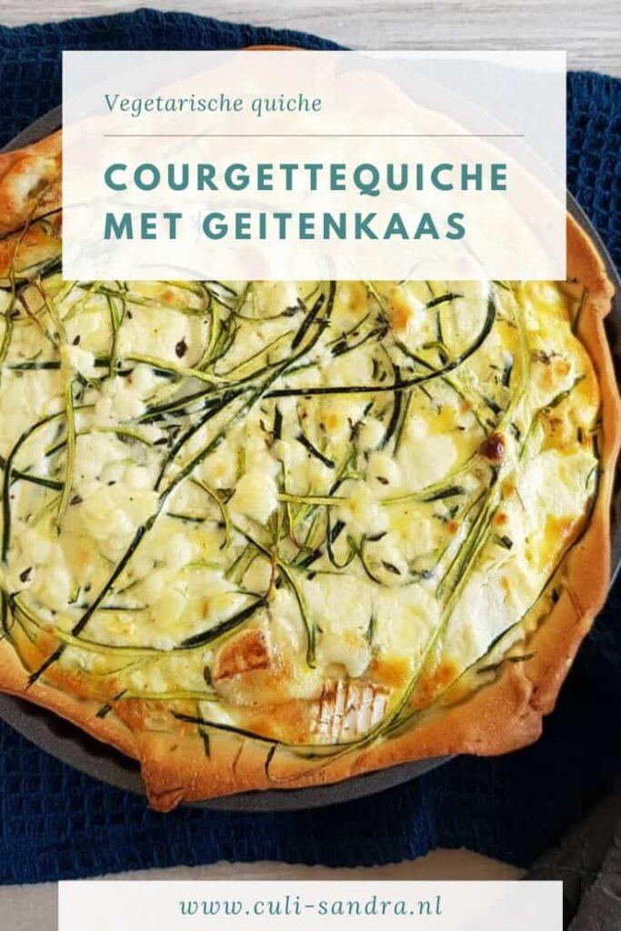 Recept quiche met courgette