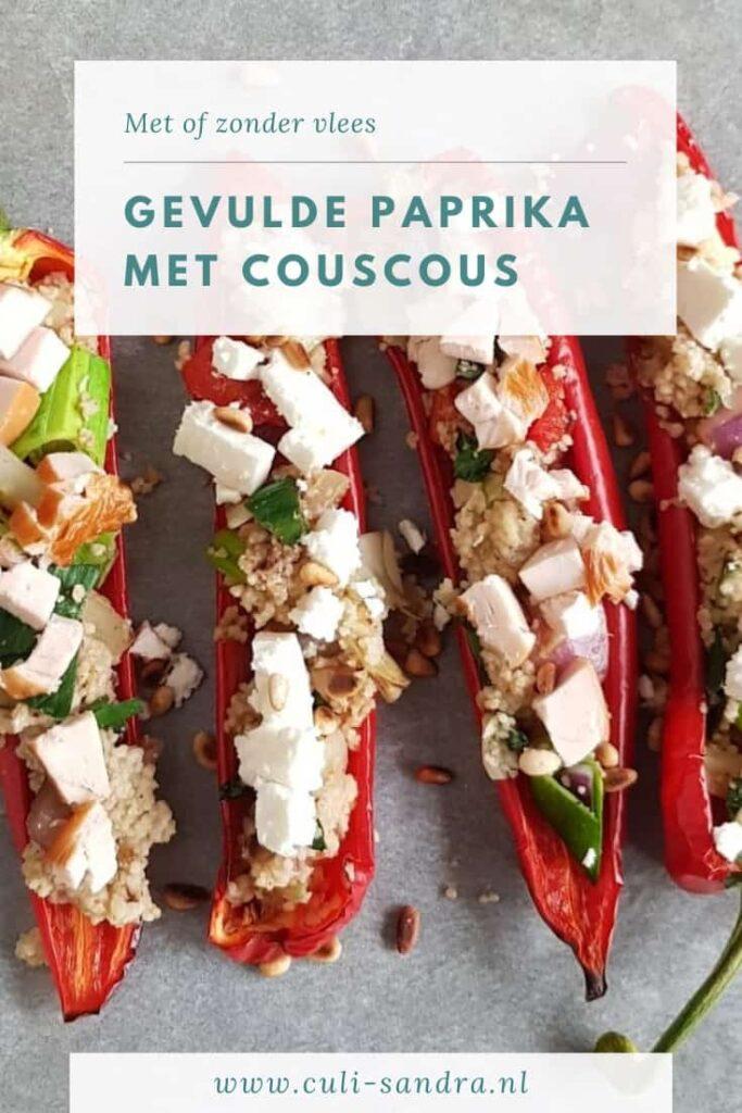 Recept gevulde paprika met couscous
