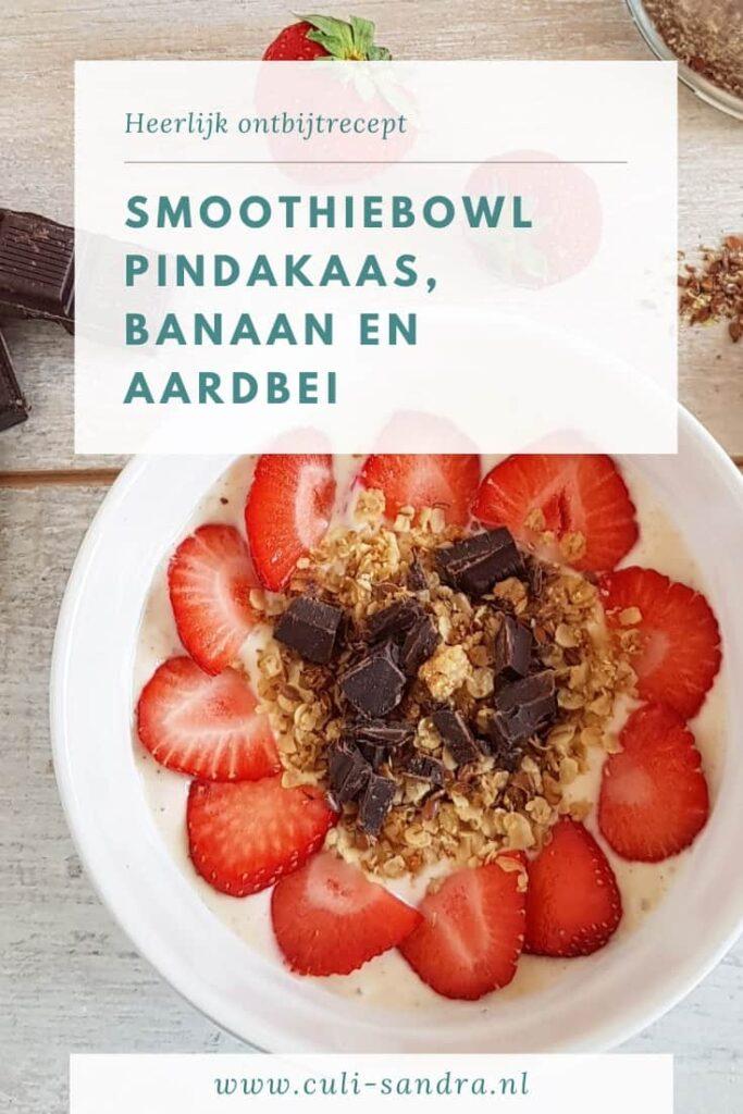 Recept smoothiebowl met pindakaas en banaan