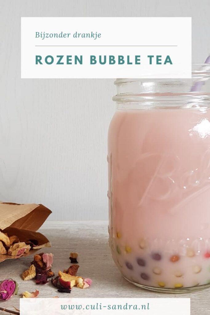 Recept bubble tea met rozen