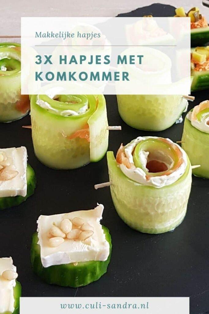 Recept komkommerhapjes