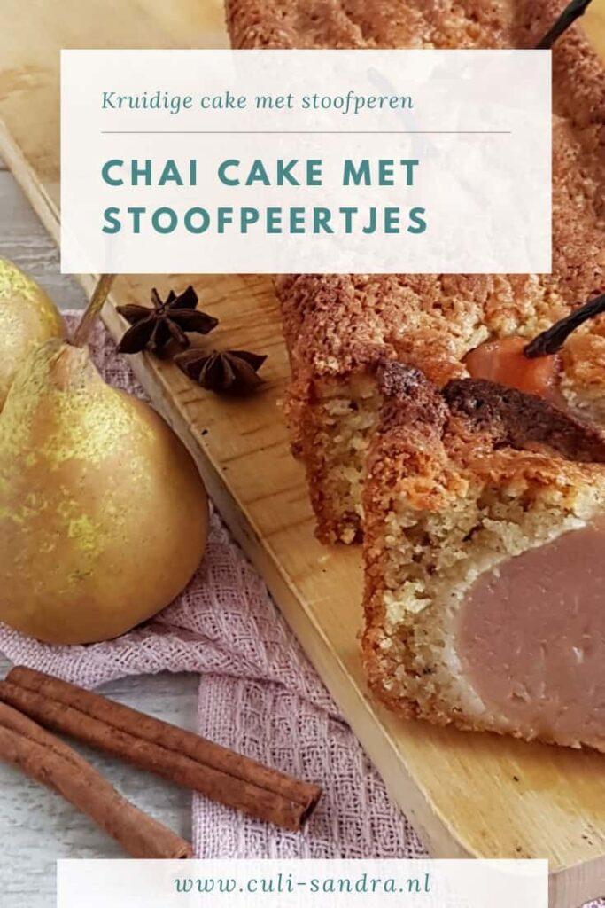Recept chaicake met stoofperen