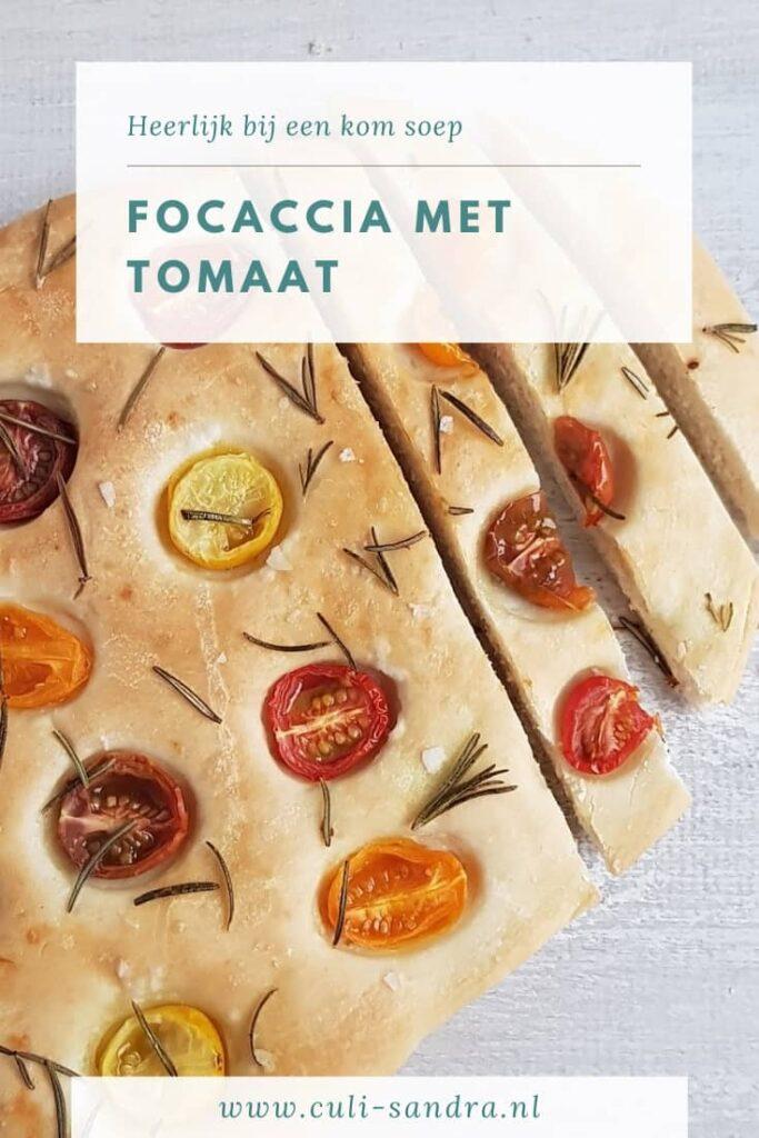 Recept focaccia met tomaat