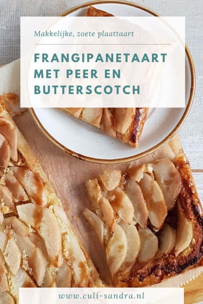 Recept perentaart met frangipane