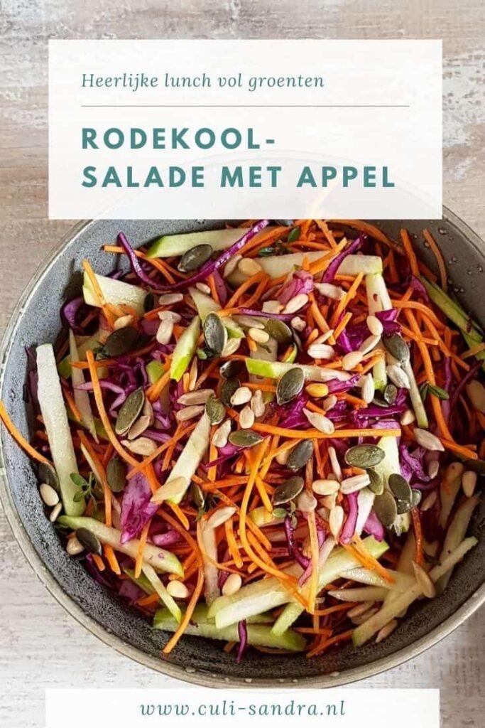 Recept rodekool salade met appel