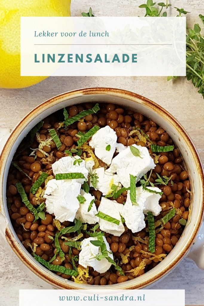 Recept linzensalade met geitenkaas