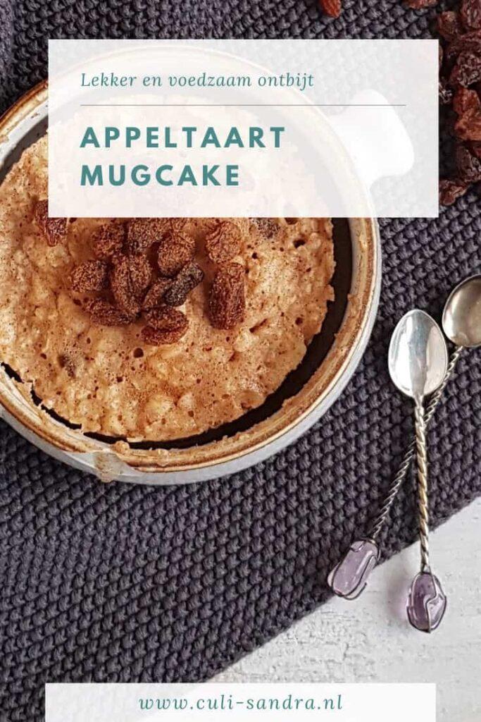 Recept appeltaart mugcake