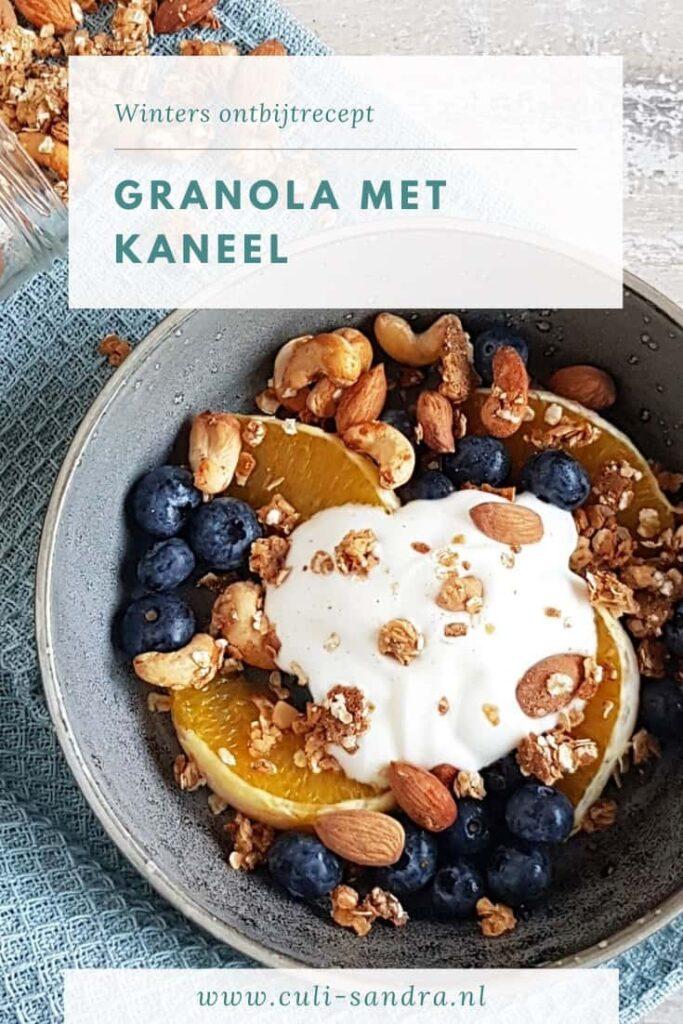 Recept granola met kaneel
