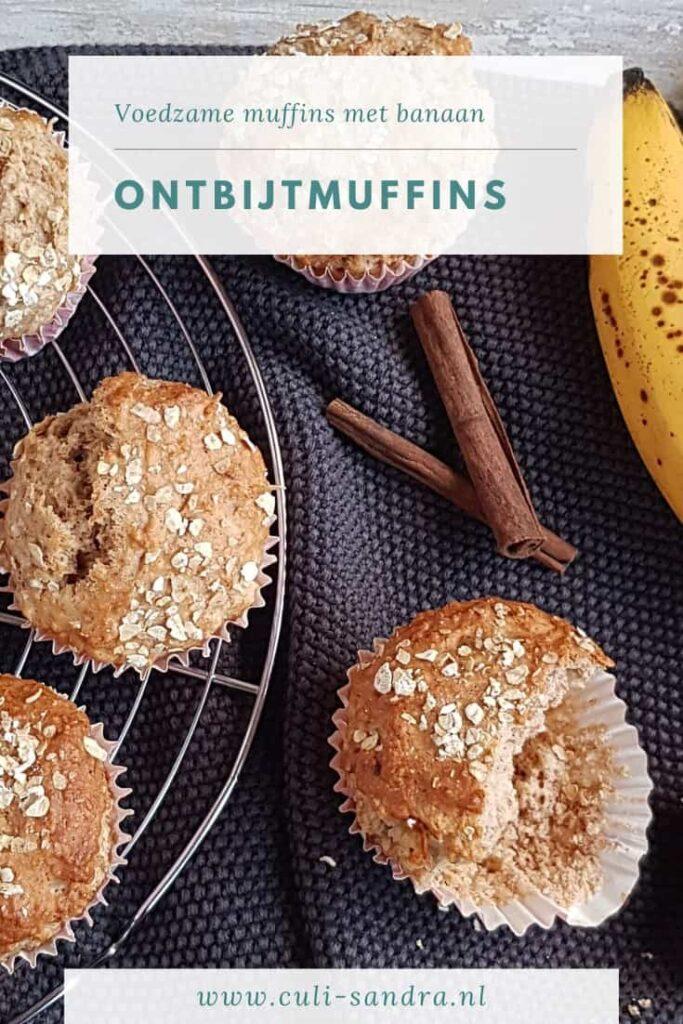 Recept ontbijtmuffins met banaan