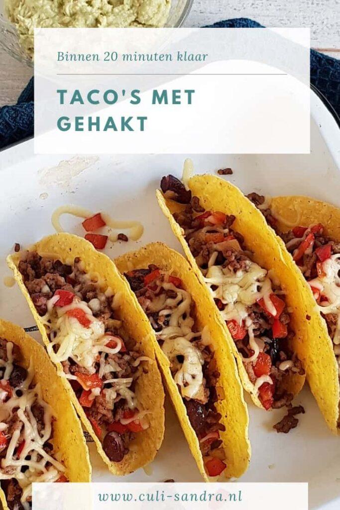 Recept taco's met gehakt