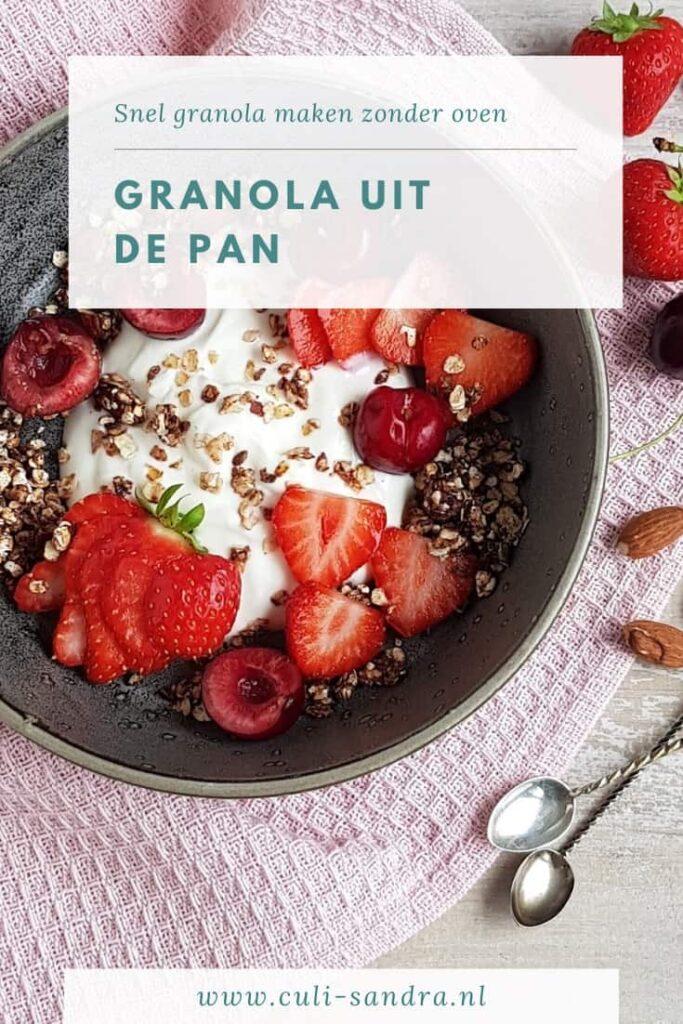 Recept granola uit de pan