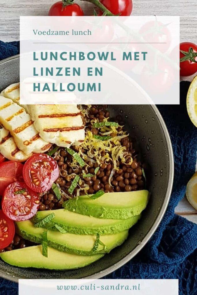 Recept linzen met halloumi