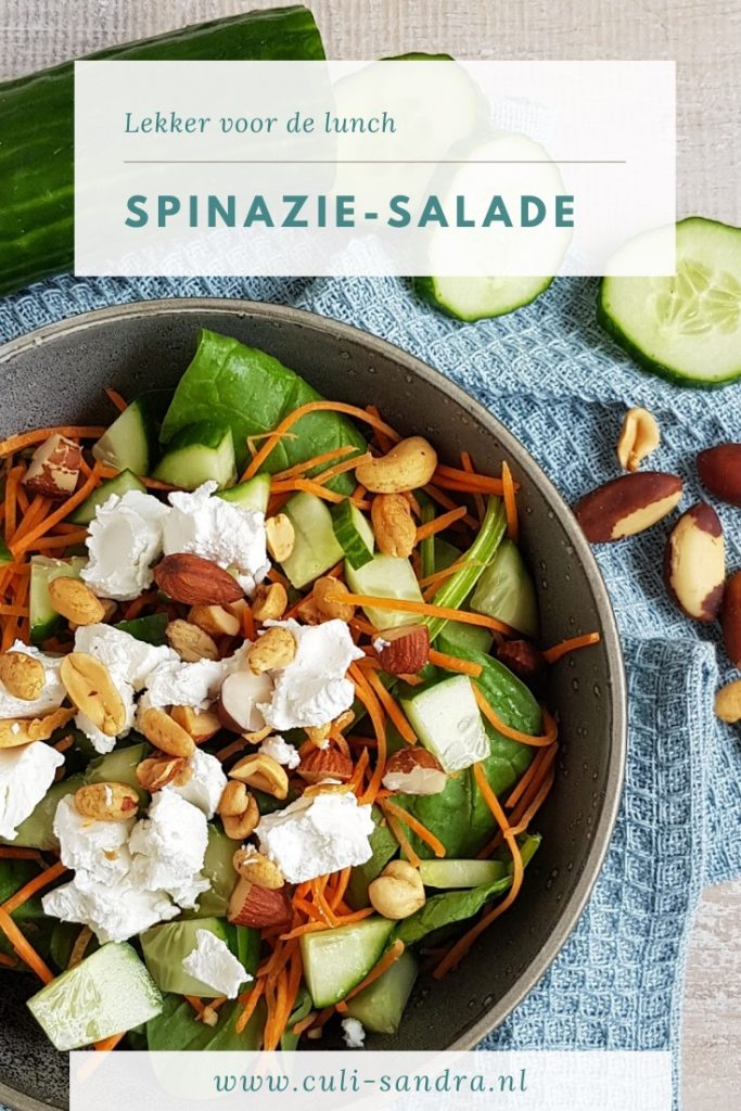 Recept spinaziesalade met geitenkaas