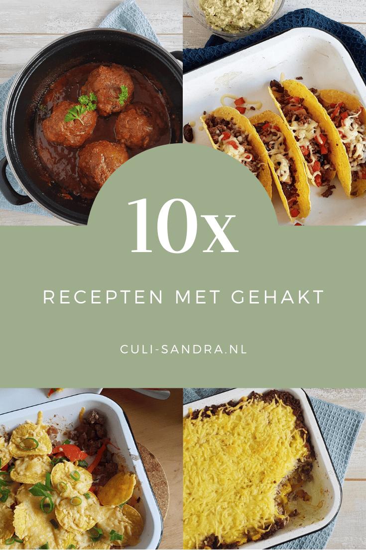 10x recepten met gehakt