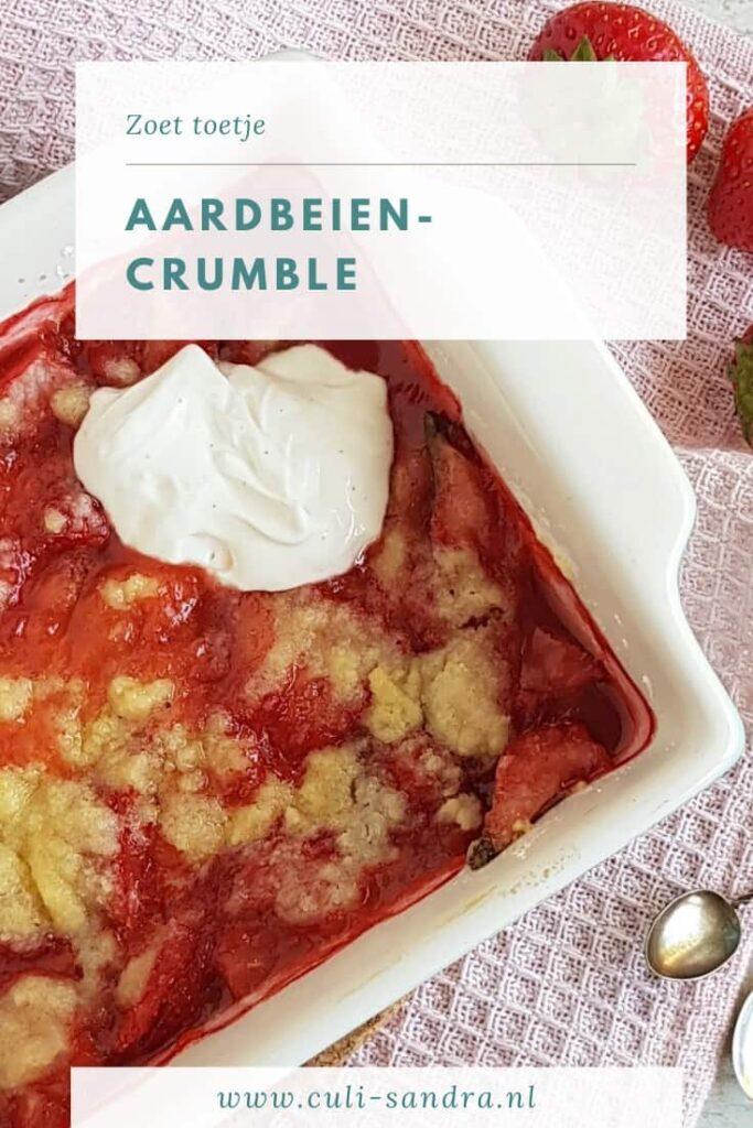 Recept aardbeiencrumble