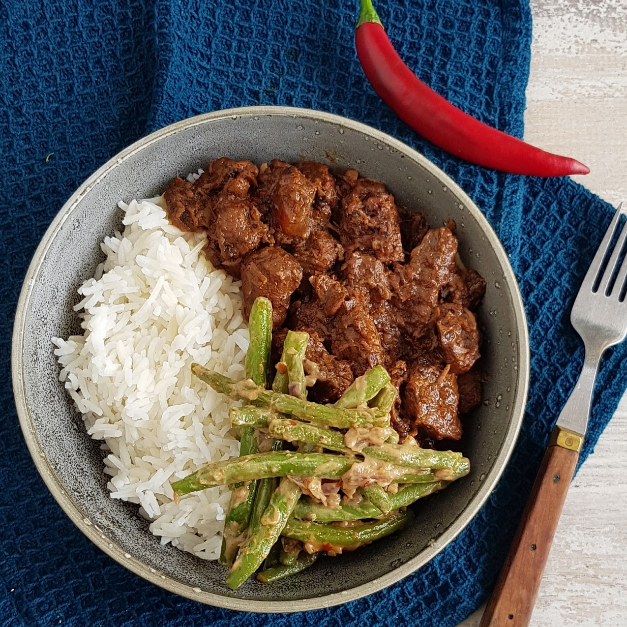 Rendang - Indonesisch stoofvlees
