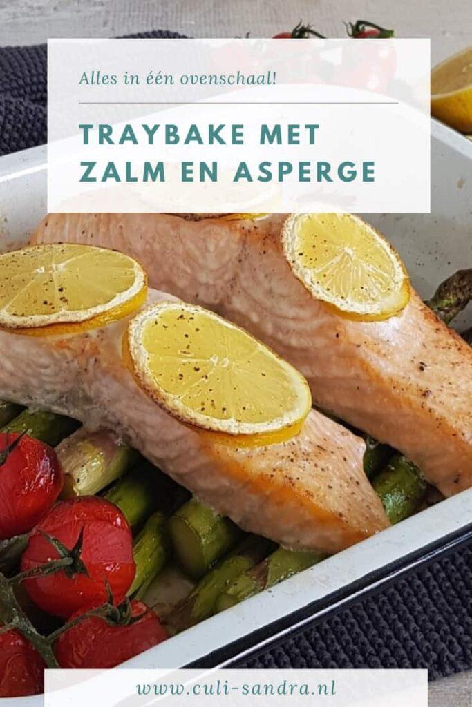 Recept traybake met zalm