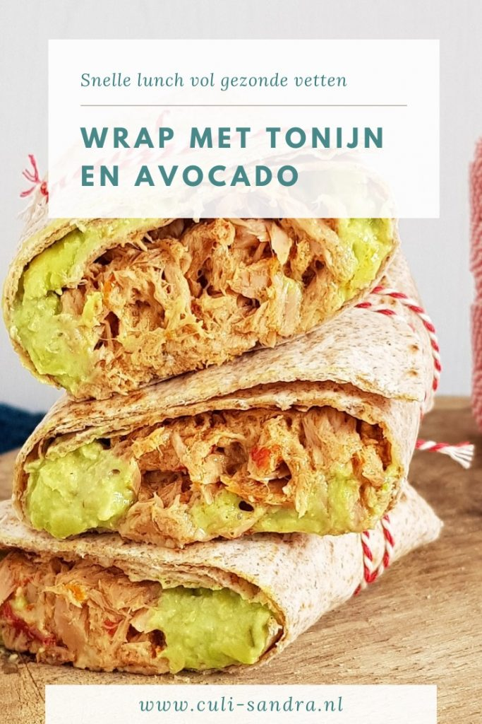 Recept wrap tonijn avocado