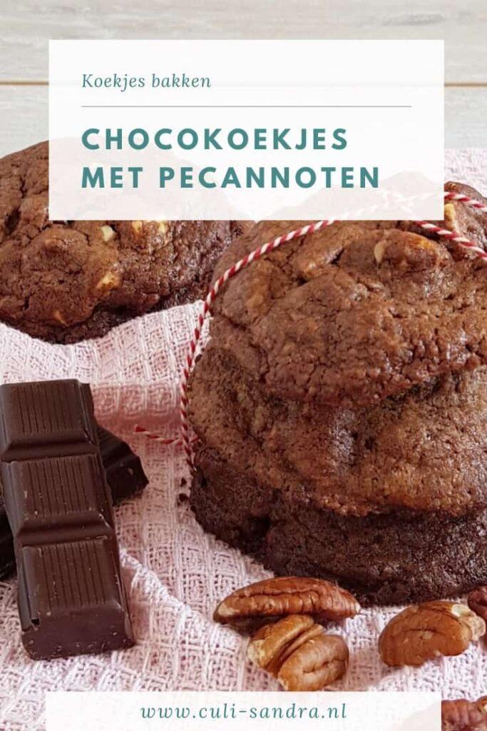 Recept chocoladekoekjes met pecannoten