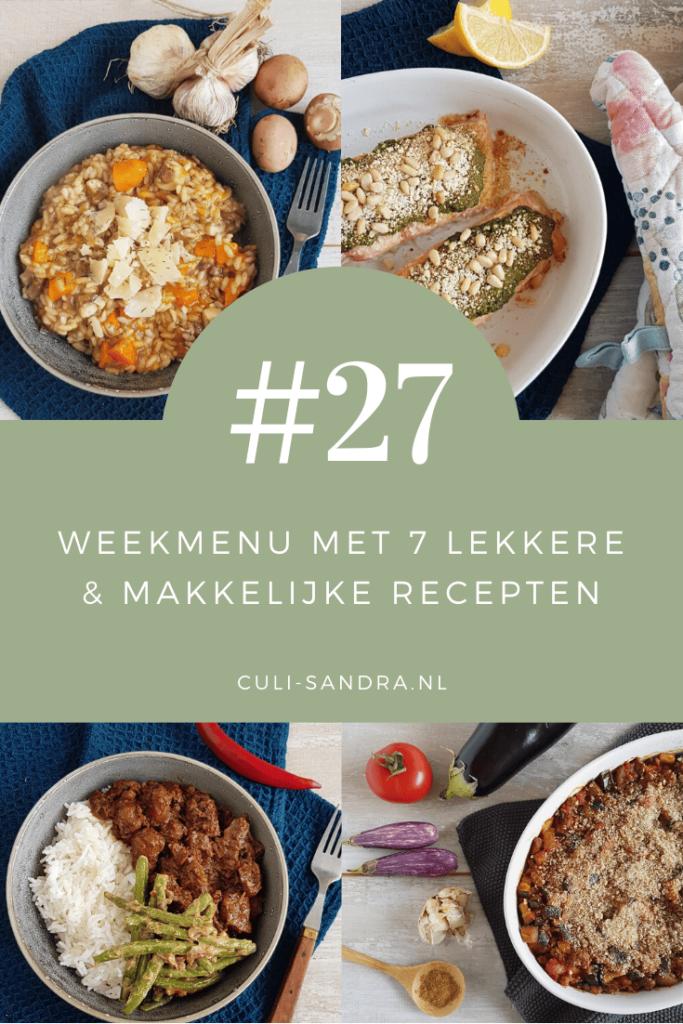 Weekmenu 27