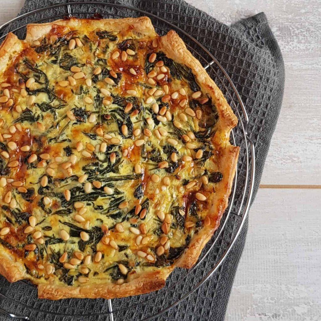 Quiche met spinazie en kaas