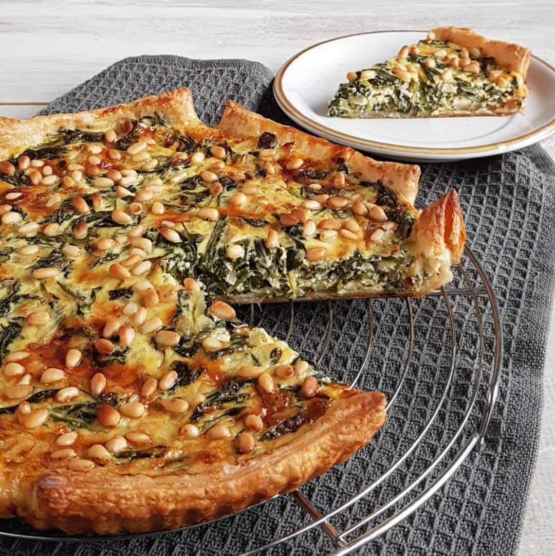 Spinaziequiche met oude kaas