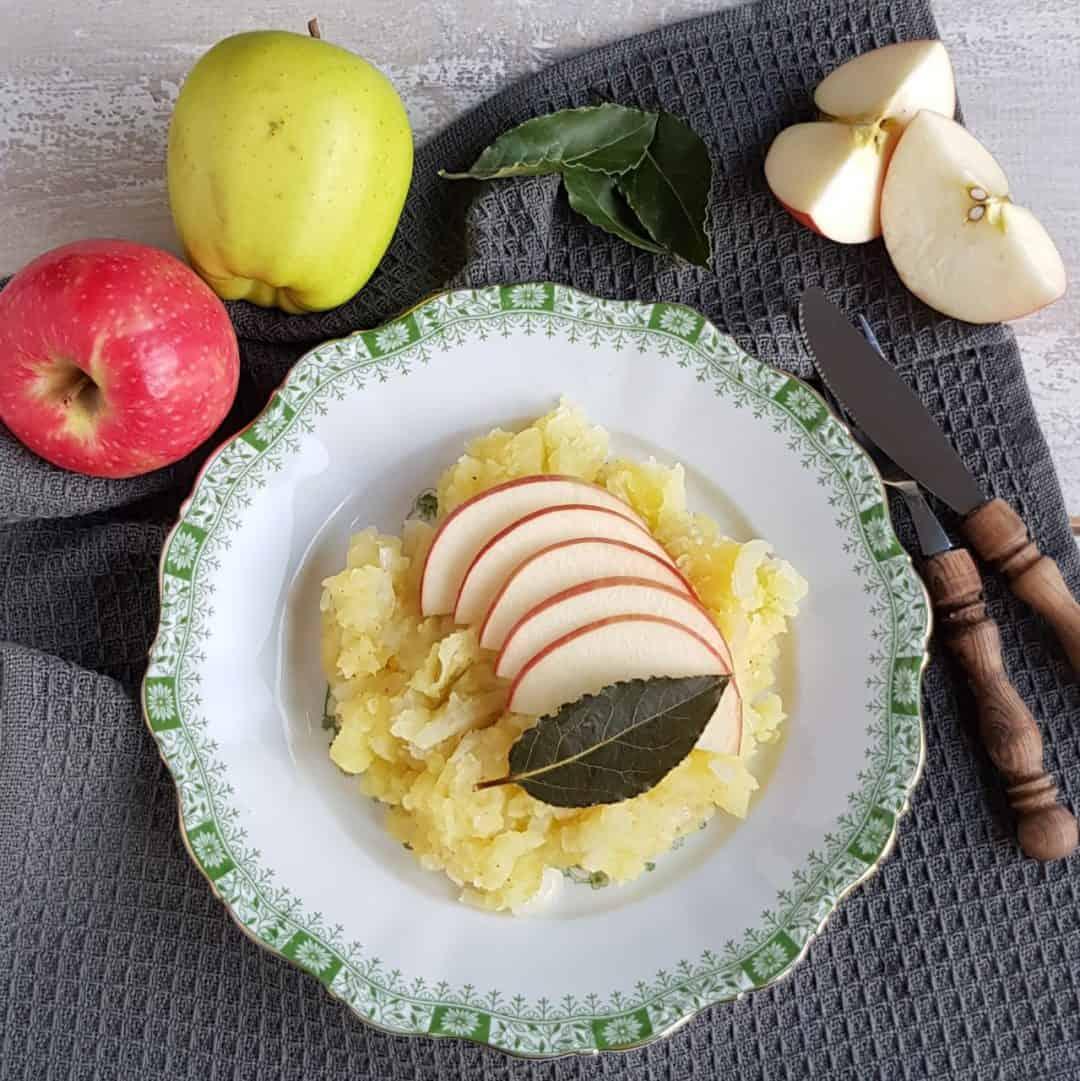 Hete bliksem - stamppot van aardappel en appel