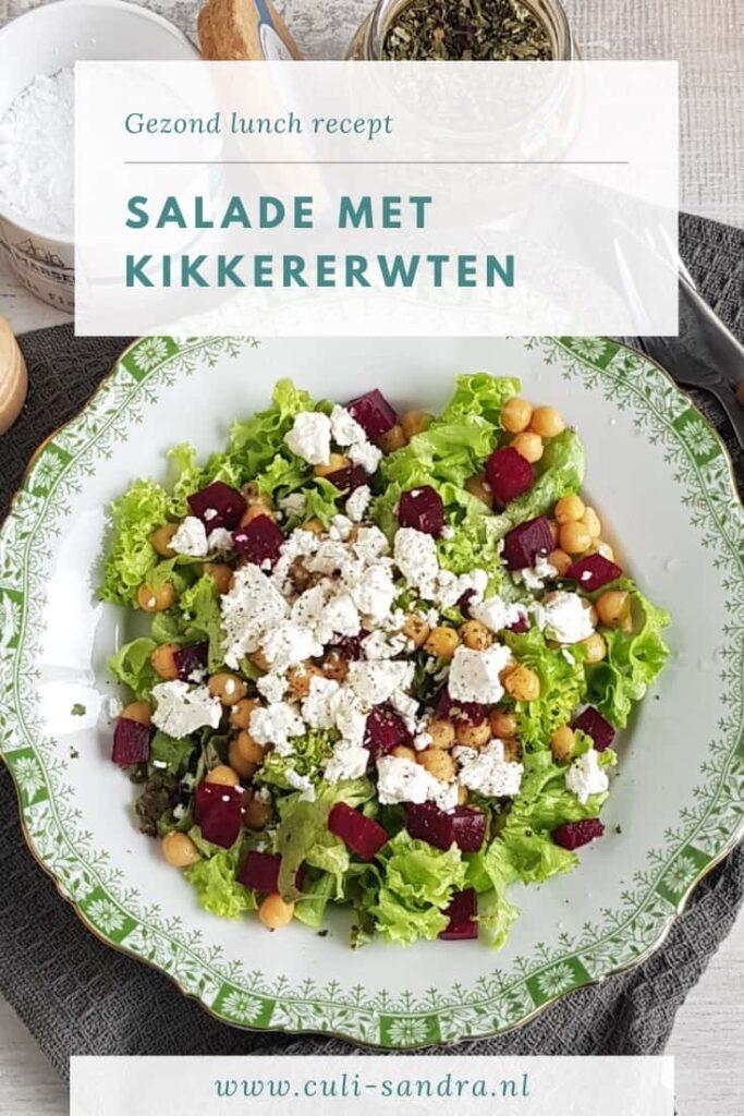 Recept kikkererwten salade