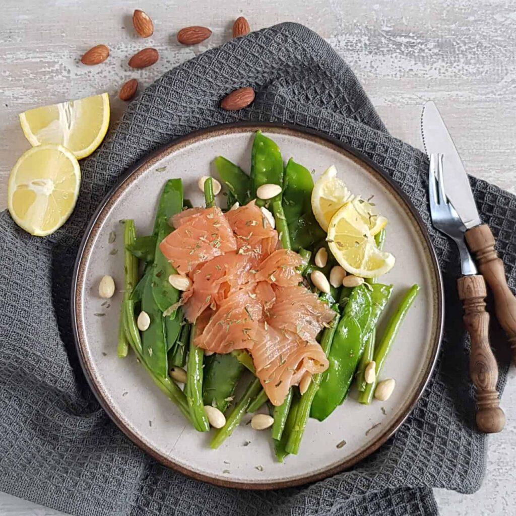 Lunchsalade zalm