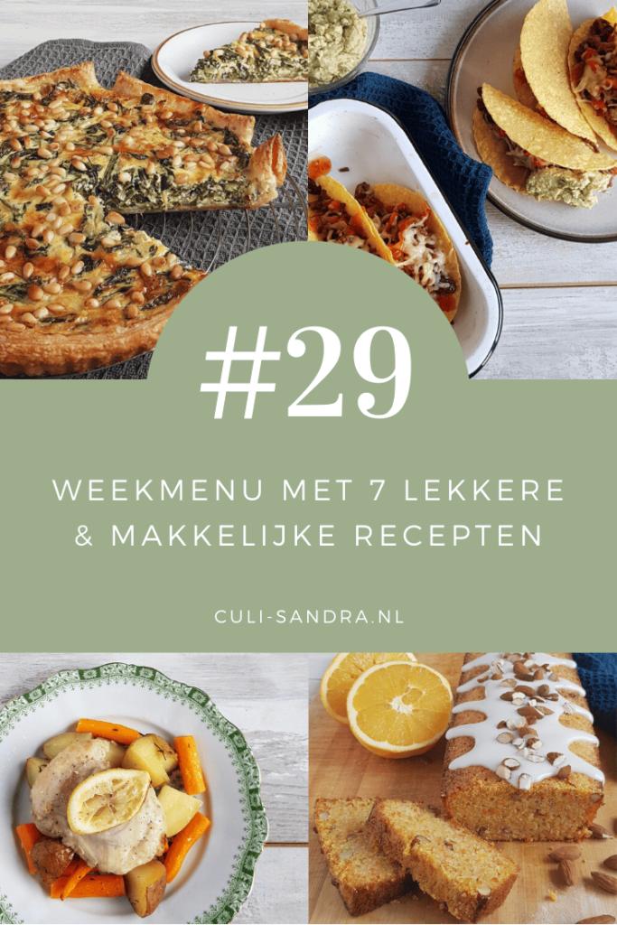 Weekmenu 29