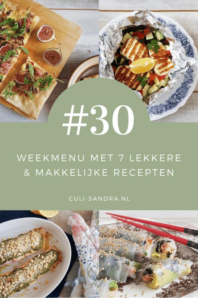 Weekmenu 30
