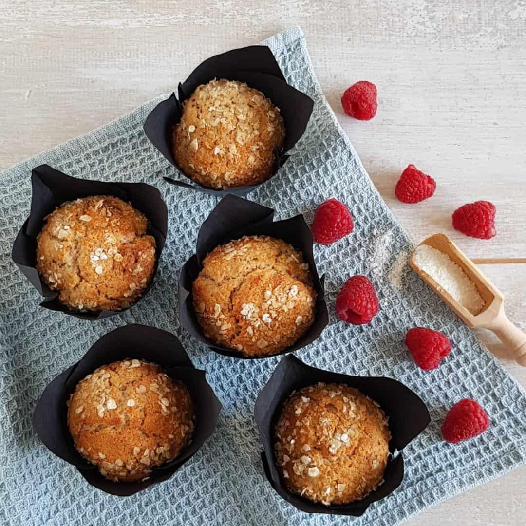 Frambozen ontbijtmuffins