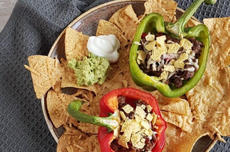 Gevulde paprika's nacho style