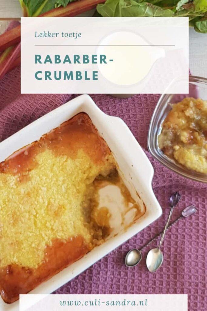 Recept rabarbercrumble