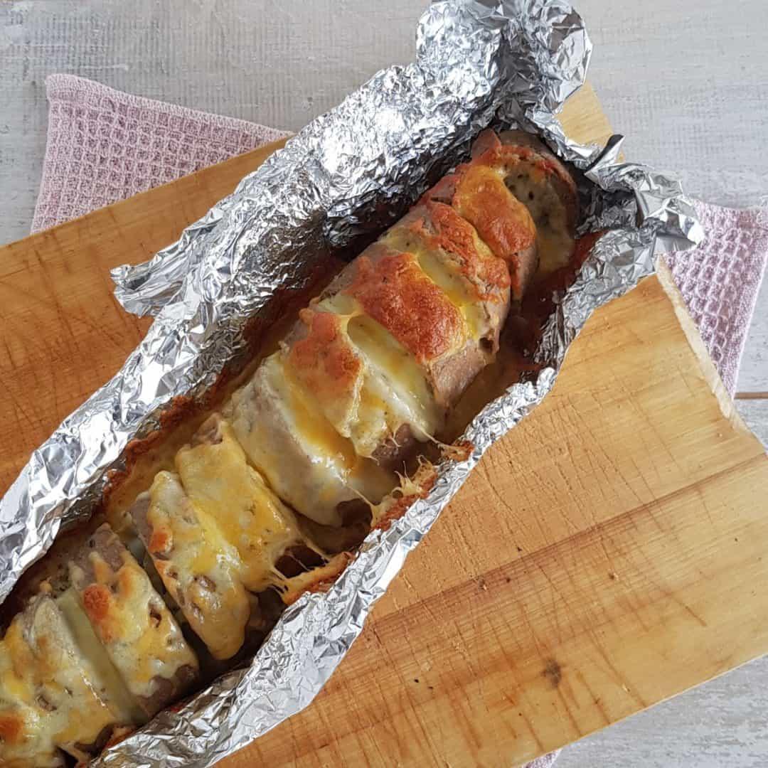 Stokbrood met mozzarella
