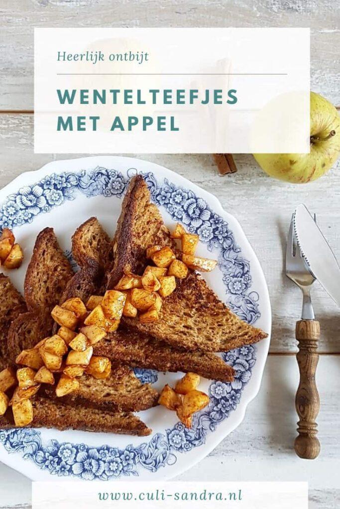 Recept wentelteefjes met appel