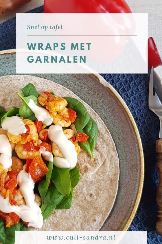 Recept wraps met garnalen
