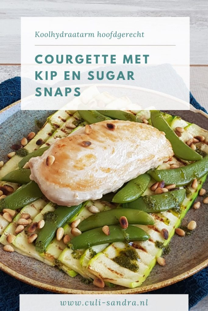 Recept gegrilde courgette met kip