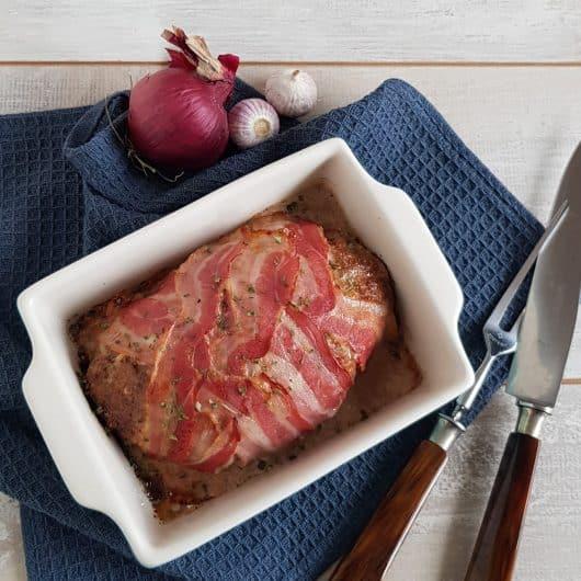 Gehaktbrood met spek en bbqsaus - meatloaf